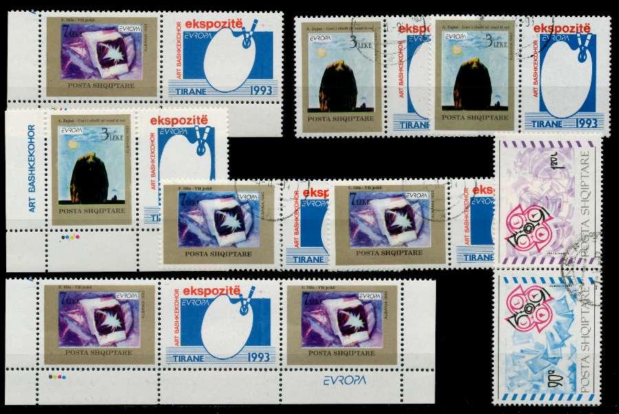 ALBANIEN Kleines Lot wie abgebildet postfrisch gestempelt X92593E
